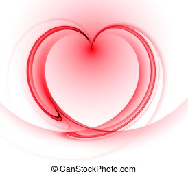 Flowing Heart Abstract - Flowing, shaded heart shape -...