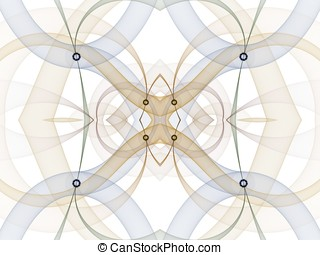 Kaleidoscopic Tubes Abstract - Flowing light colors,...
