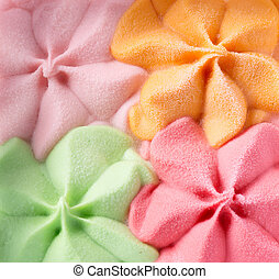 Colorful Ice Cream Background. Various Flavours