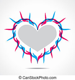 heart shape design with hand