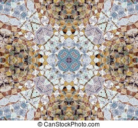Quilt Collage Abstract - Fractal pattern in digital collage...