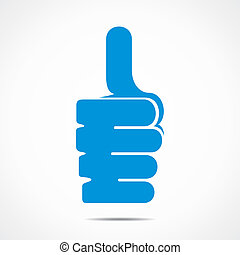 thumbs up icon  stock vector