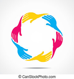 secure or save concept shown by hand stock vector