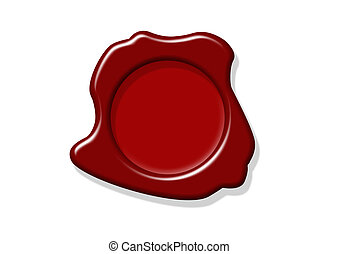 Wax Seal - Wax seal with room for text isolated in white...