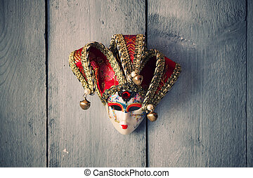 Carnaval mask - Photo of carnival mask on wooden background