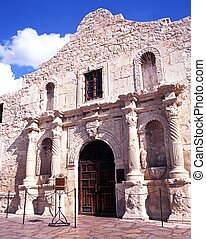 The Alamo, San Antonio, USA. - Front facade of the Alamo,...