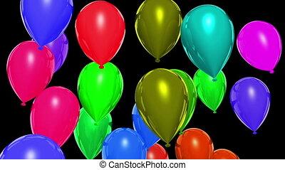 Rising balloons (matte)