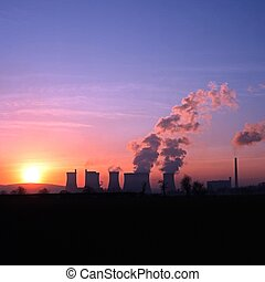 Power station at sunset, Rugeley.