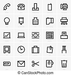 Office icons - Set of office icons