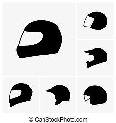 Motorcycle helmets - Set of Motorcycle helmets
