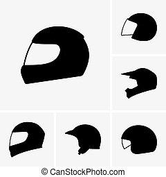 motocicleta, capacetes