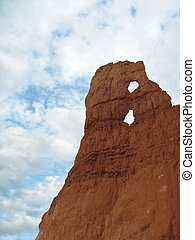 Red Rock Monument Over Blue Sky