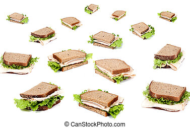 Deli Sandwich - A fresh deli sandwich with lots of meat and...