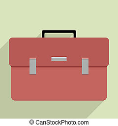 briefcase - minimalistic illustration of a business...
