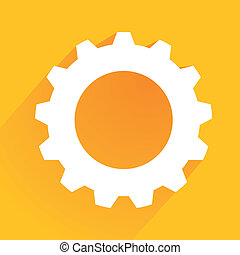 gear icon - minimalistic illustration of a cogwheel gear...