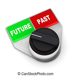 Future Vs Past Switch - A Colourful 3d Rendered Future Vs...