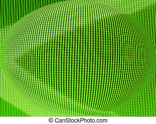 Green matrix sphere - Green blown matrix sphere - lcd panel...