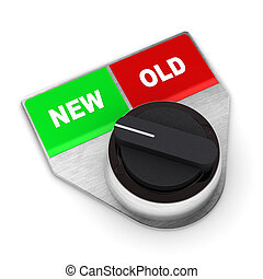 New Vs Old Concept Switch - A Colourful 3d Rendered New Vs...