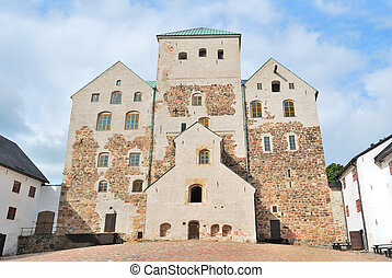 Turku castle - Swedish medieval castle in the town of Turku,...