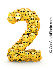 Emoticons number 2 - Number 2 compiled from Emoticons smiles...