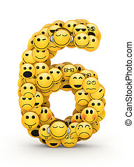 Emoticons number 6 - Number 6 compiled from Emoticons smiles...
