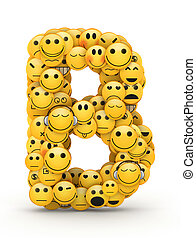 Emoticons letter B - Letter B compiled from Emoticons smiles...