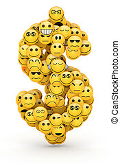Emoticons dollar sign - Dollar sign compiled from Emoticons...