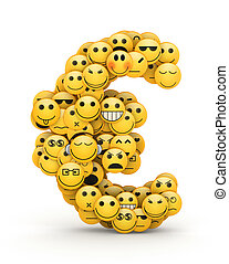 Emoticons euro - Euro sign compiled from Emoticons smiles...