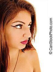 Closeup of girl.