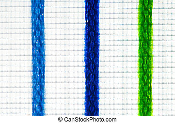 Multicolored net texture isolated on white