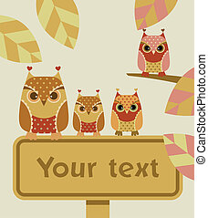 Owl with sign