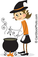 1728 - Witch and cauldron - Witch and cauldron - halloween...