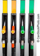 bomba, bocais, gás, estação