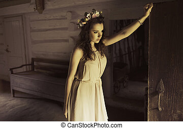 Flower princess in the old house - Flower princess in the...