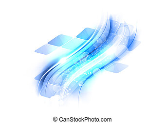 blue abstract shape on the white background