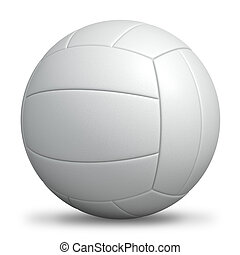 White standard volleyball isolated. - White standard...