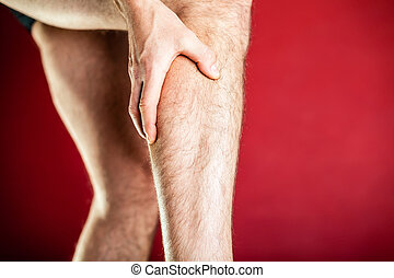 Physical injury, calf pain - Running physical injury, calf...