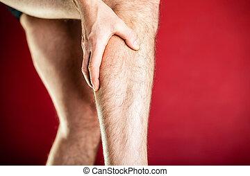 Physical injury, calf pain - Running physical injury, calf...