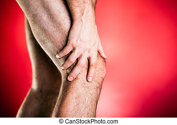 XXXL Running physical injury, knee pain - Running physical...