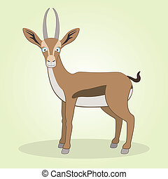Gazelle - Vector Illustration of Cartoon Gazelle