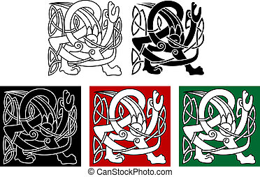 Abstract celtic gryphon