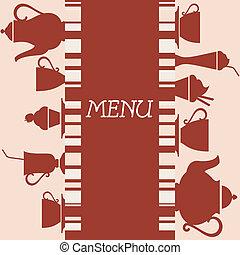 Coffeehouse menu design