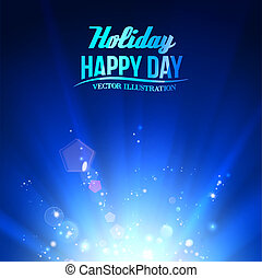 Blue luminous rays Vector illustration