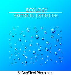 Water drop. Vector illustration.