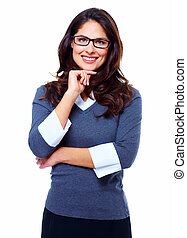 Happy Business woman. - Portrait of young business woman...