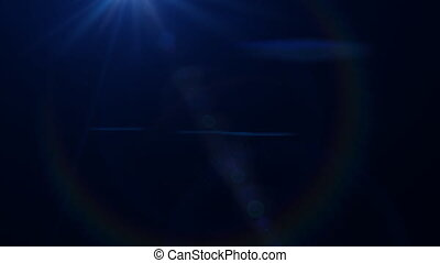 Lens Flares crossing Blue vertical - beautiful lens flare...