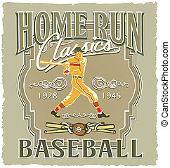 Homerun Baseball classic - baseball vector for shirt printed...