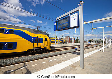 Intercity train at Arnhem Central Station, The Netherlands