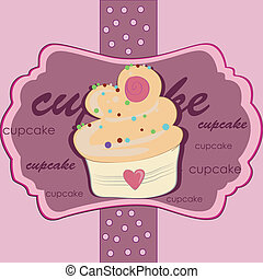 delicious pink cupcake - a delicious pink cupcake with...