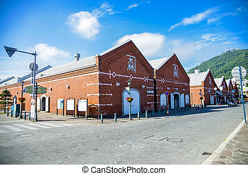 Old brick ware house in Hakodate Japan